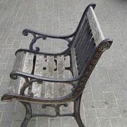 Sitzbank vorher