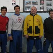 Staff del seminario de izquierda a derecha Porf. Gauto Rosalino, Maestro Ricardo Paez, Prof. Rolón Fabian, Prof. Adorno Oscar.