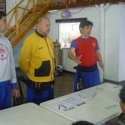 Maestro Ricardo Paez y Profesores Gauto Rosalino y Rolón Fabian.