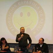 Inaguración del V Congreso de la Federación Española de Reiki, Johnn Curtin