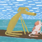A Dog, A Cat, & A Log