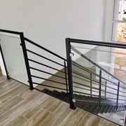art et fer escalier metal sur mesure