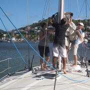 Learning to hoist the mainsail