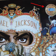 3D-Folien-Sticker von Sony Music;  Michael Jackson - Dangerous (EU 1991, EPIC / EPC 465802 1)