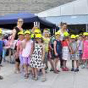 Children celebrating WOD in Slovenia at the Marine Biology Station of Piran