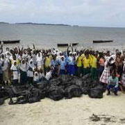 Group photo with all participants at World Oceans Day 2015 at Gazi Beach in Kenya