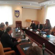 Round table discussion in Ilyichevsk municipality in Ukraine, on the RHS Dr Victoria Radchenko, IOI Focal Point in Ukraine