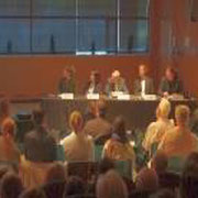 Panel and audience during the 11th event in Canada. In the panel from left to right: Ms Heather Kelday, Dr Kumiko Azetsu-Scott, Mr Bud Streeter, Dr Boris Worm and Dr Douglas Wallace