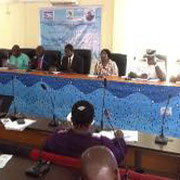 "Professor Francis Sikoki presenting his paper ""Healthy Oceans – Healthy Planet"" in Nigeria for WOD"