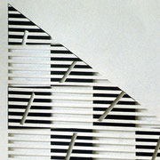 Drawing, blocks, cut with graphite, detail 2