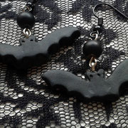 Little Black Bat Earrings