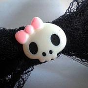 Large Creepy Cute Skull Bow