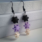 Pastel Goth Christmas Snowflake earrings