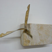 TRIEB (SHOOT) - Linde, Bienenwachs, Aluminium (limewood, beeswax, aluminum) 2009