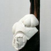 JELLYFISH - Marmor, Eiche (marble, oak), 160 x 33 x 30 cm, 2000