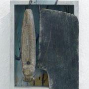 ALCHIMISTENSCHABE - diverse Materialien, 20 x 15 x 7 cm, 2011