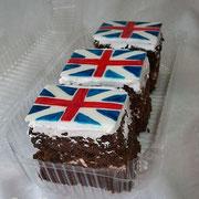 Пирожные в английском стиле для оксфордского центра , шоколадные