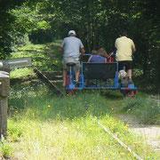 Vélo-rail de St Loup du Gast