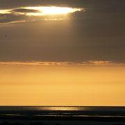 Coucher de soleil dans la Baie de Somme
