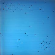 """Daekwan Kim """"DAS LICHT AUF DEM WASSER"""" - tOG Nr. 015 - 45x45x4 cm (c) Dirk Palder tOG Düsseldorf"""