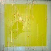 """Daekwan Kim """"DAS LICHT AUF DEM WASSER"""" - tOG Nr. 020 - 50x50x4 cm (c) Dirk Palder tOG Düsseldorf"""