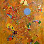 Daniel Kho - tOG Nr.04 - Cherry Way - 100 x 80 cm - 2013 - Mixed Media auf Canvas
