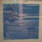 """Daekwan Kim """"DAS LICHT AUF DEM WASSER"""" - tOG Nr. 019 - 50x50x4 cm (c) Dirk Palder tOG Düsseldorf"""