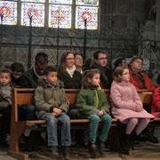 Quelques enfants de CE2 de la paroisse