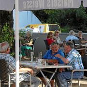 Biergarten nahe der Innenstadt von Weil am Rhein