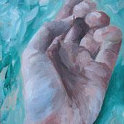 Hand, 2011, Acryl auf Papier, 50 x 70 cm