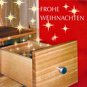 Fotomontage für Weihnachtskarte der Schreinerei Birrer, Böckten