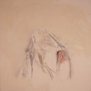o.T., 65x55 cm, Acryl und Wachsmalstift auf Leinwand (224)