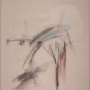 o.T., 40x30 cm, Acryl und Wachsmalstift auf Leinwand (227)