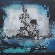 Acrylic and Oil on Canvas, 150 x 90cm / 5cm