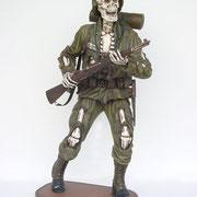 figura esqueleto soldado
