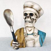 réplica cráneo cocinero