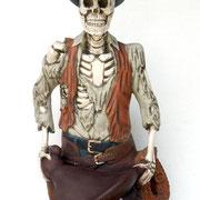 réplica cowboy esqueleto