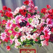 ¥10000 124x178x34 モデルハウス竣工祝アートフラワースタンド花