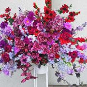 ¥21000 138x189x45 開店祝造花スタンド花