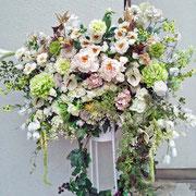 ¥21000 137x189x45 開店祝造花スタンド花