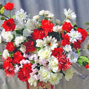 ¥10000 105x178x36 モデルハウス竣工祝アートフラワースタンド花