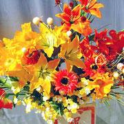 ¥10000 119x174x33 モデルハウス竣工祝アートフラワースタンド花