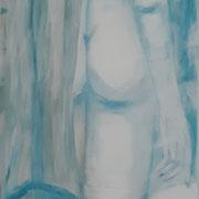 """""""Ira & Nelson"""", Acryl auf Leinwand, 200 x 55 cm"""