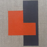 o.T. , Acryl auf Leinwand-Karton, 30 x 20 cm