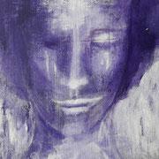 """Michael"", Acral auf Leiwandpappe, 30 x 30 cm"