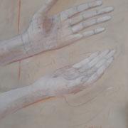 """""""Energieausgleich"""" Acryl und Ölkreide auf Leinwand, 3 x 80x60 cm (1)"""