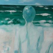 """""""Ein Tag am Meer"""", Acryl auf Leinwand, 155 x 80 cm"""