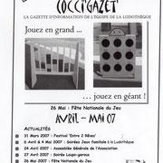 Gazette #11 : Avril - Mai 2007