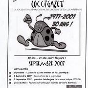 Gazette #13 : Septembre 2007