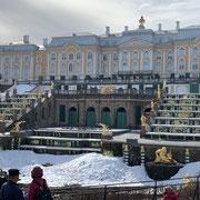 Peterhof et ses fontaines